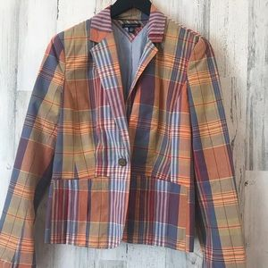Boys Tommy Hilfiger plaid blazer sz M